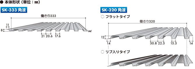 Sk角波 角波 外装材 製品情報 株式会社セキノ興産金属屋根